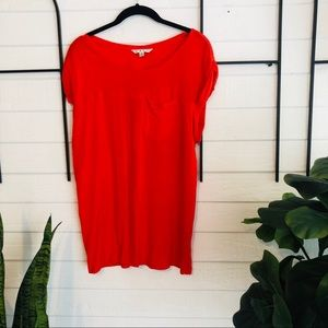 Red CABI soft pocket tee